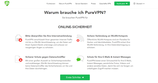 PureVPN Kill Switch-Funktion