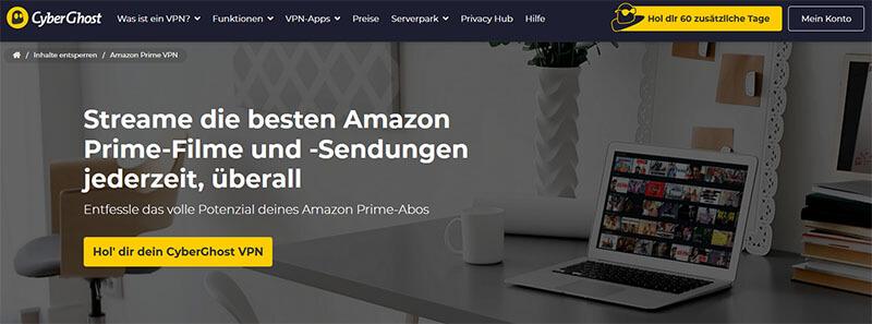 CyberGhost Amazon Prime