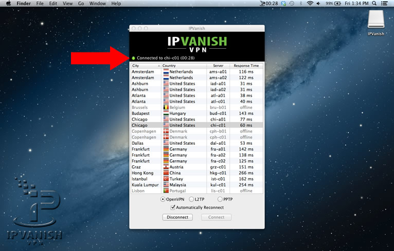 IPVanish Anwendung 2