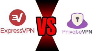 Vergleich ExpressVPN PrivateVPN