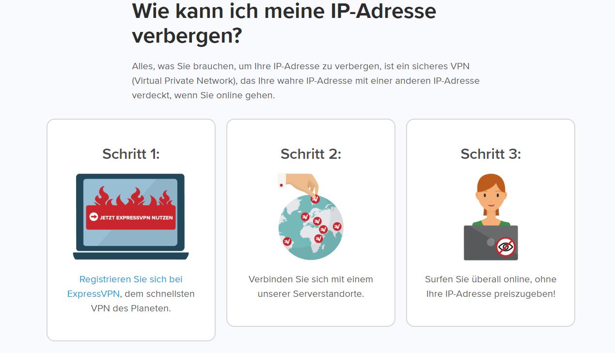 ExpressVPN IP-Adresse