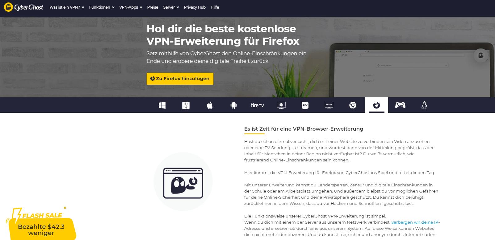 CyberGhost Firefox