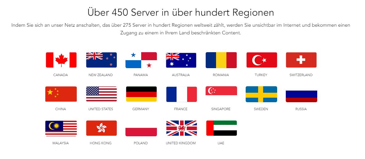Ivacy VPN_Länder