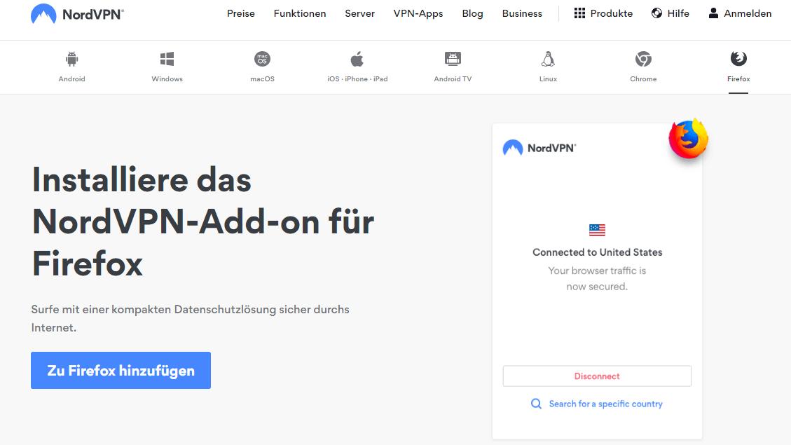 NordVPN Firefox
