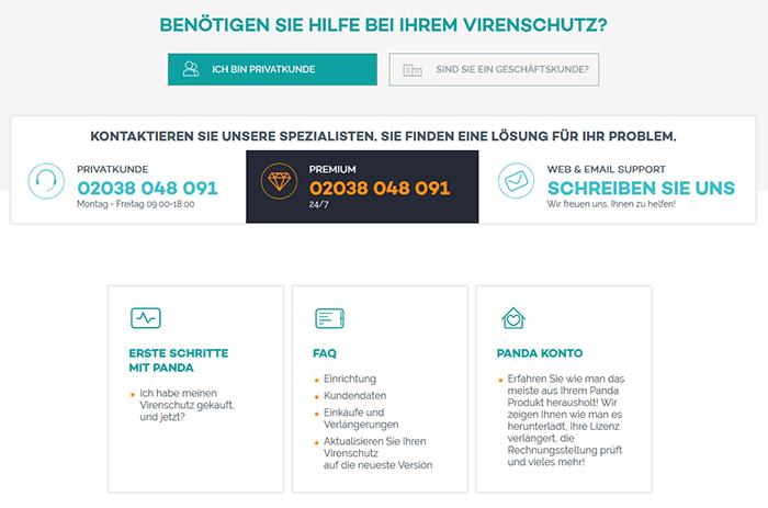 Panda VPN Kundenservice