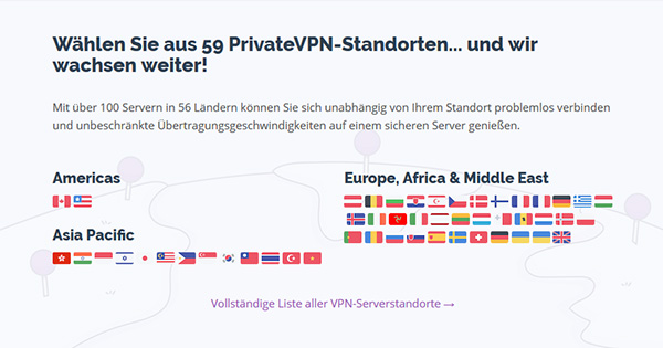 Server PrivateVPN