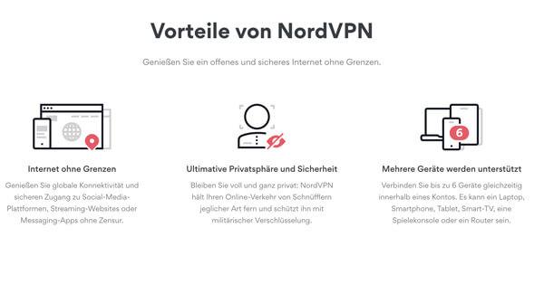 NordVPN-Vorteile