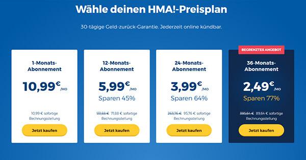 Preis-HideMyAss