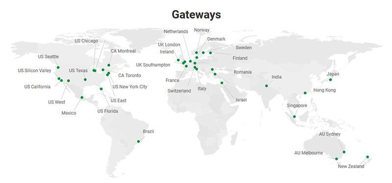 Private Internet Access gateways
