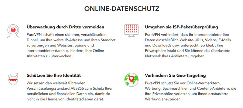 PureVPN Datenschutz