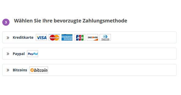 Zahlungsmethode-PrivateVPN