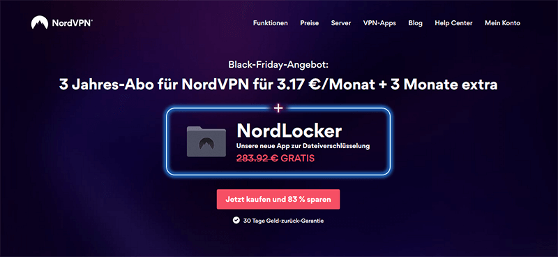 NordVPN Angebot Black Friday