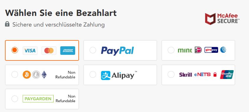 Emp Zahlungsarten