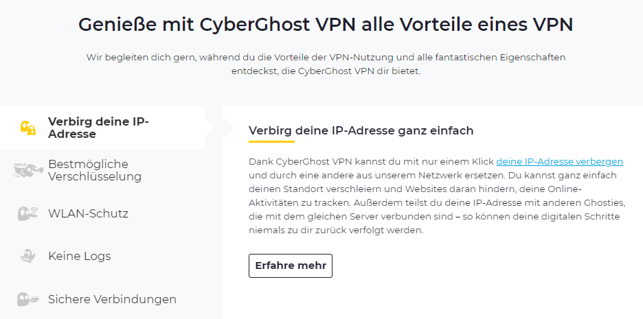 CyberGhost Belgien
